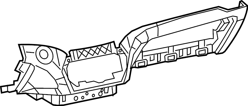 Jeep Cherokee Instrument Panel Knee Bolster (Lower). 2019