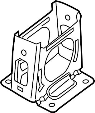 Dodge Avenger Console Bracket. 1995-99. 1995-99, front