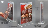 The Restaurant Menu Holder Includes 8 A4 Vinyl Sleeves!