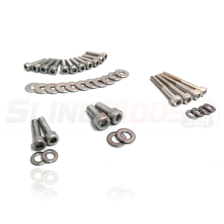 Polaris Slingshot Stainless Steel Engine Dress-Up Bolt Kit