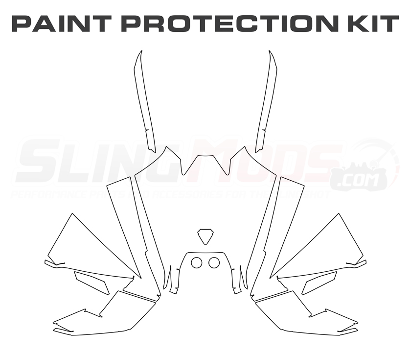 Polaris Slingshot Precut Clear Bra Paint Protection Film Kit