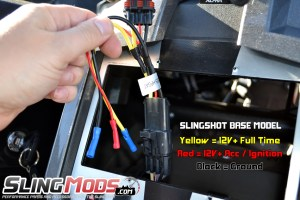 Polaris Slingshot Aftermarket Stereo Wiring Harness with OEM Backup Camera Integration