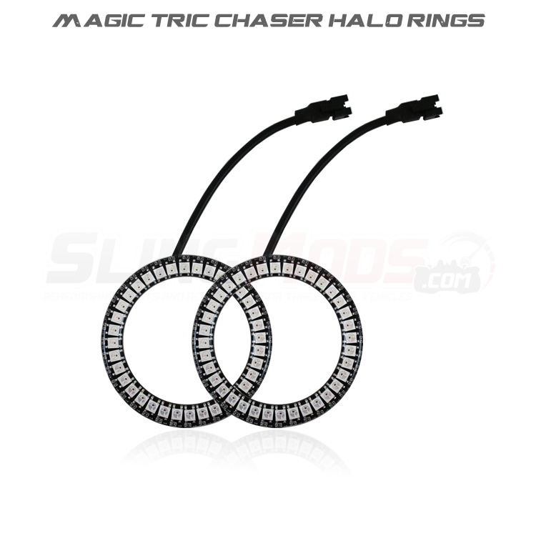 Polaris Slingshot LED Chaser Add-On Halo Ring Set