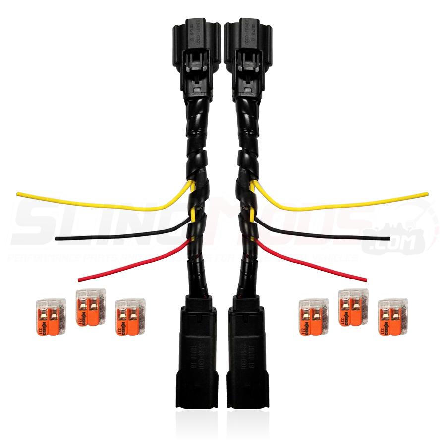 hight resolution of polaris slingshot plug n play blinker running light integration harness