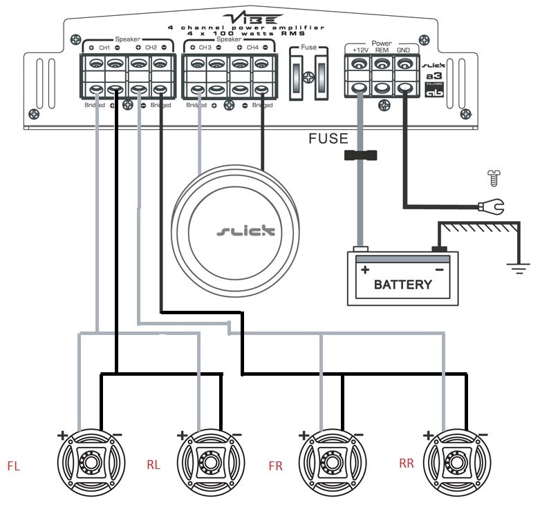 2 Channel Amp Wiring Diagram & Full Size Of Wiring Diagrams