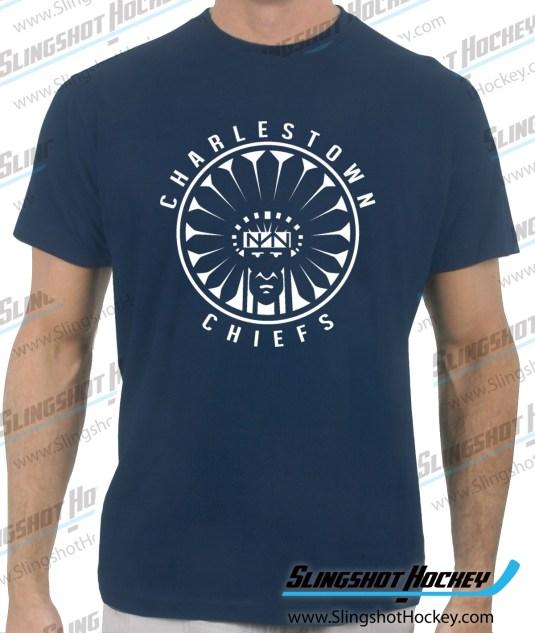 Charlestown-Chiefs-Warrior-slapshot-navy-tshirt
