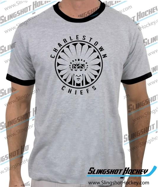 Charlestown-Chiefs-Warrior-slapshot-ringer-heather-grey-black-mens-tshirt