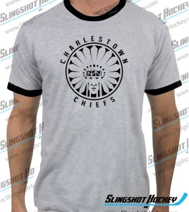 Charlestown-Chiefs-Warrior-slapshot-ringer-heather-grey-black-mens-tshirt