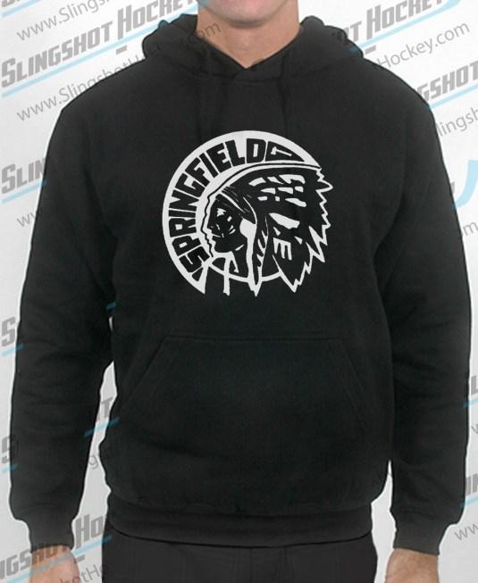 Springfield-Indians-mens-black-sweatshirt-front-slingshot-hockey