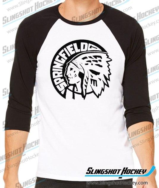 Springfield-Indians-raglan-black-white