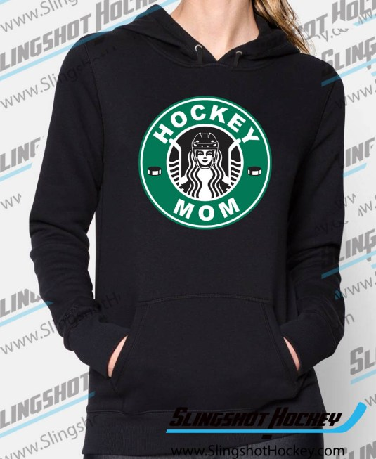 hockey-mom-starbucks-Womens-Black-hockey-Hoodie