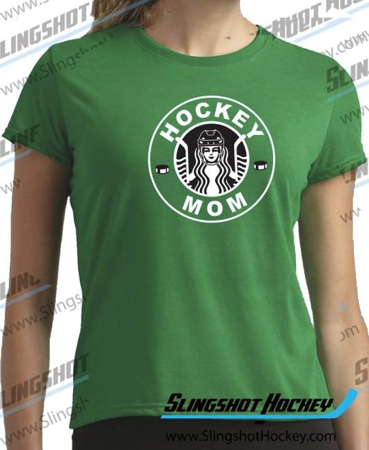 hockey-mom-starbucks-Womens-green-hockey-shirt