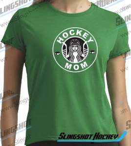 hockey-mom-starbucks-Womens-green-hockey-shirt