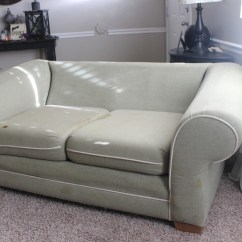 Cream Soft Fabric Sofa Style Daybed Shabby Chic Slipcovers - By Shelley