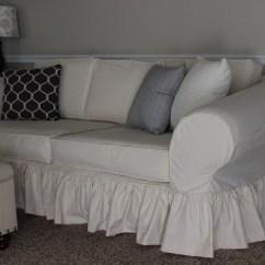 Cream Soft Fabric Sofa Extra Large Corner Sofas Shabby Chic Slipcovers - By Shelley