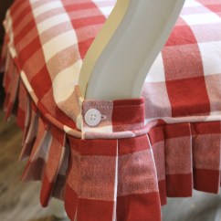 Red Chair Covers Tech Furniture And White Buffalo Check Slipcovers By Shelley