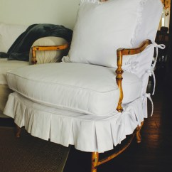 Wood Arm Chair Covers Rentals Custom Slipcovers By Shelley