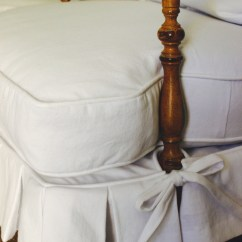 Wood Arm Chair Covers White Leather Club Custom Slipcovers By Shelley