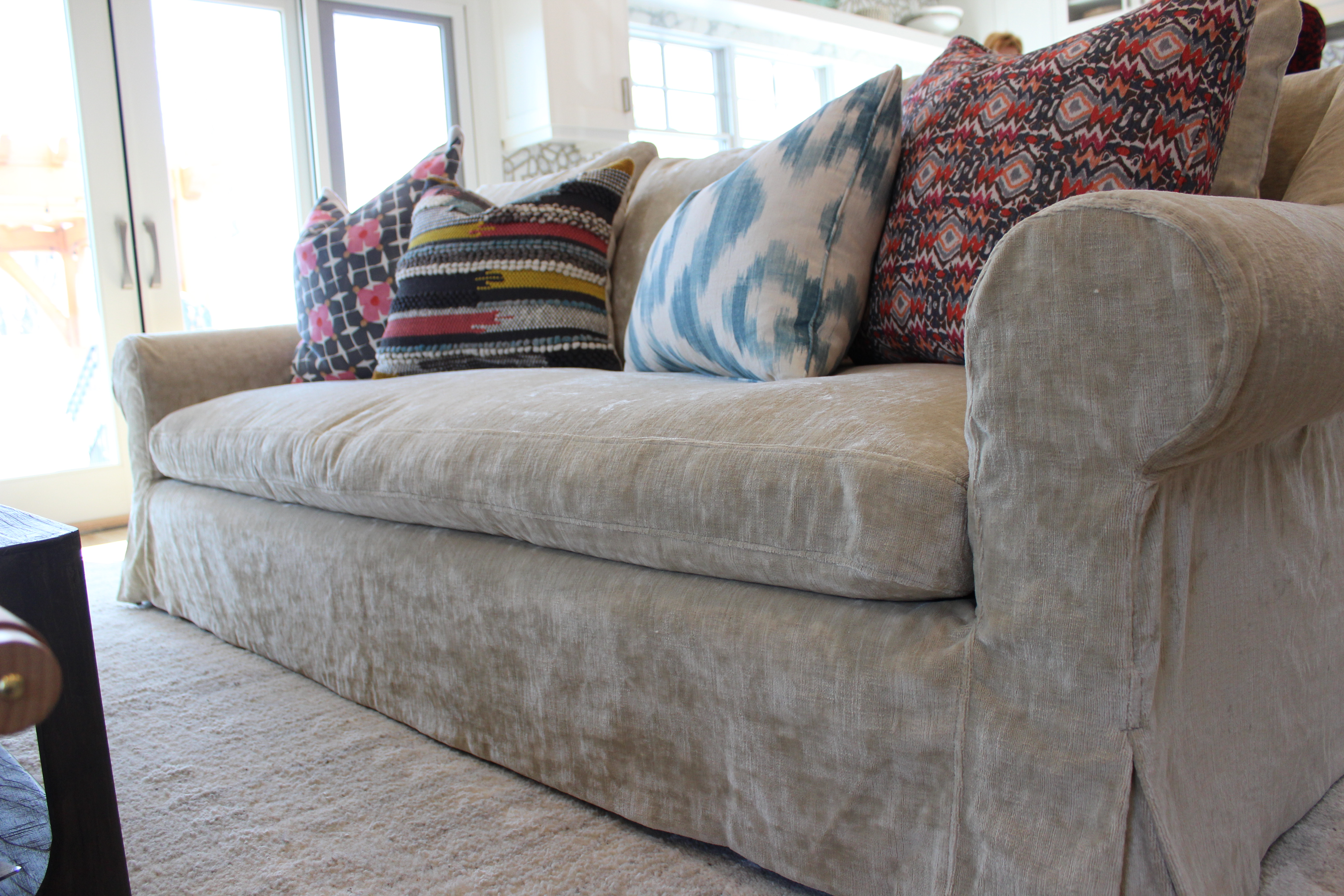 Washable velvet slipcover Slipcovers by Shelley