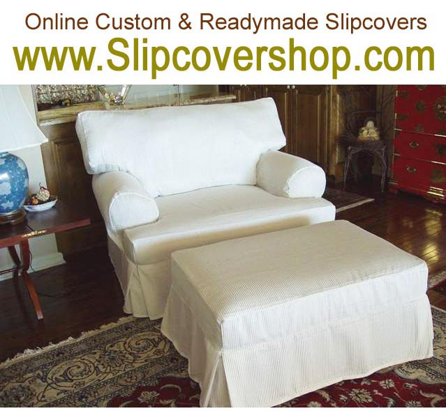 white slipcover chair and ottoman library ladder sofa slipcovers in stock ultra suede black furniture