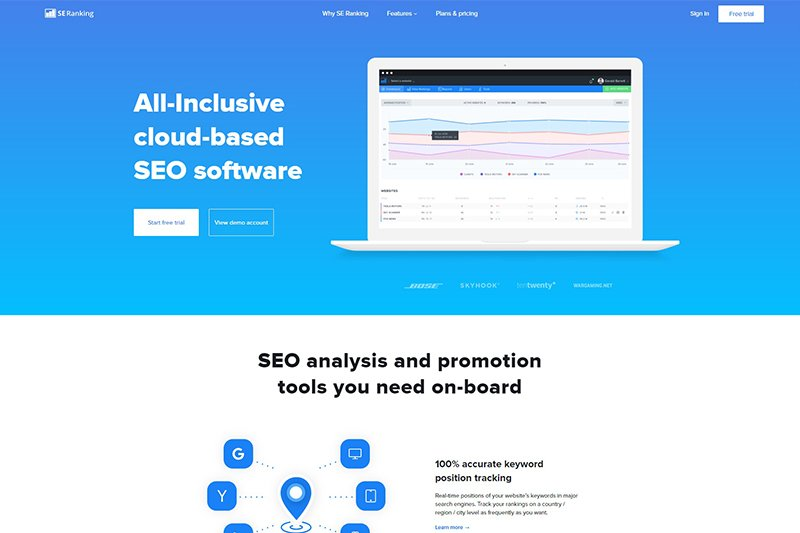 SE Ranking - complete SEO toolkit