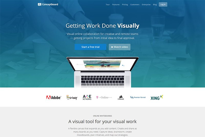 Conceptboard project collaboration software