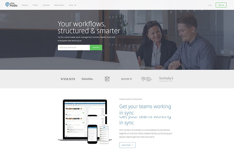 Podio online collaboration software