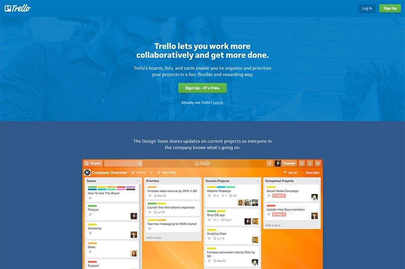 Trello online collaboration tools