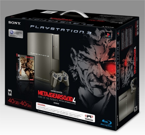 Special Edition Gun Metal Grey 40GB PS3 Metal Gear Solid 4 Bundle