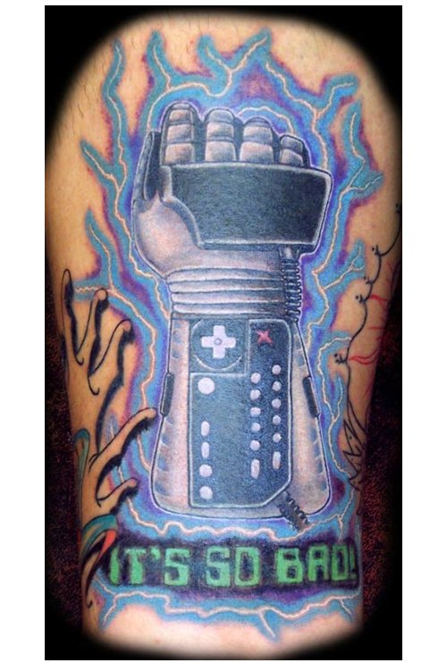 Video Game Tattoos The Power Glove Tattoo. You know, the Nintendo power
