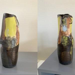tall pottery vase