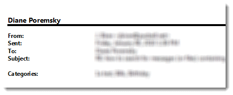 How Do I Remove My Name When I Print Email?