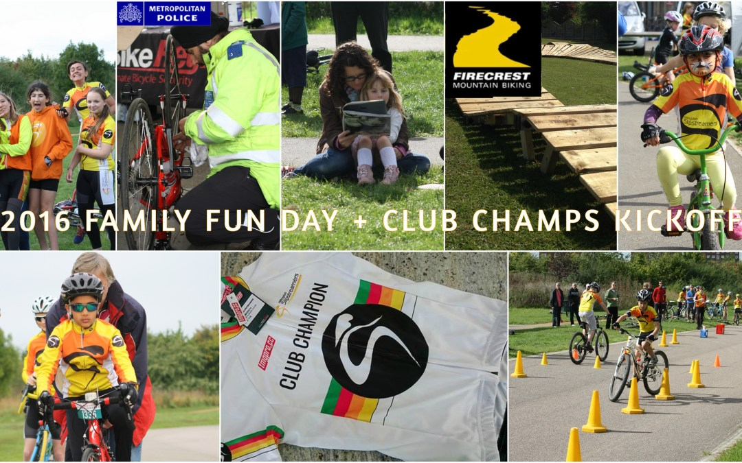 Schedule for Saturday's Family Fun Day & Club Champs