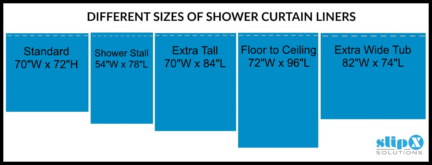 How Long Is A Standard Or Extra Shower Curtain Liner Guide. Shower Curtain  Stall With Photo Medium Size