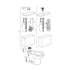 Toilet Repair Parts Diagram Ac Motor Wiring Gravity Tank Toilets Sloan