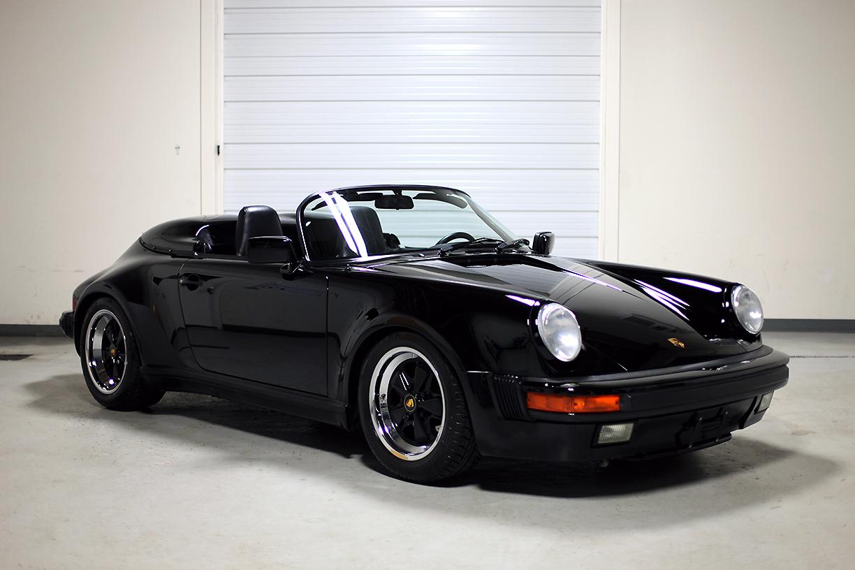 1989 Porsche 911 Speedster Black 3 357 Miles Sloan Cars