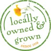 Locally owned & grown logo