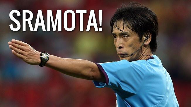 japaski sudac Yuichi Nishimura hrvatska brazil penal kazneni udarac hnl