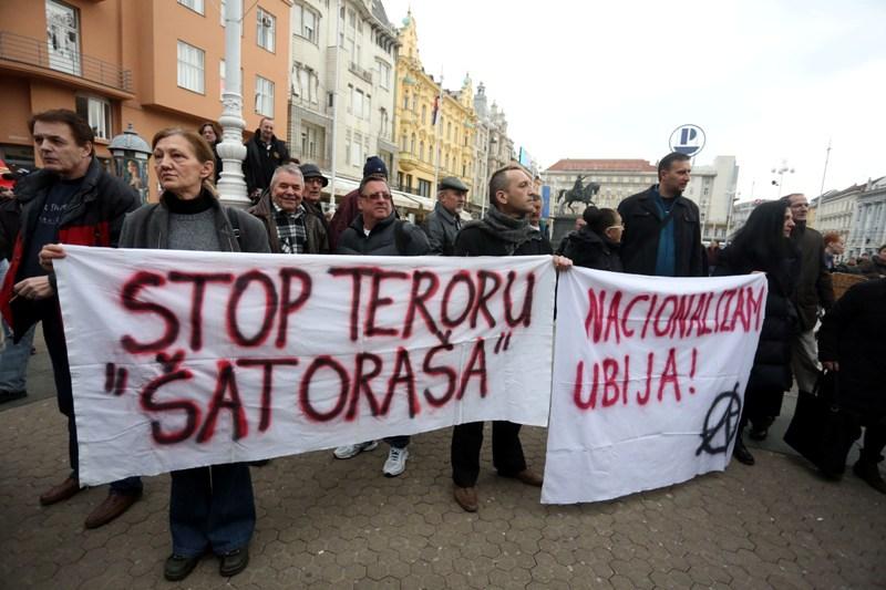 occupy croatia anti-prosvjed prosvjed protiv branitelja savska josip klemm marijana mirt