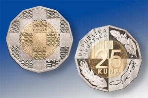 hrvatska kovanica 25 kuna