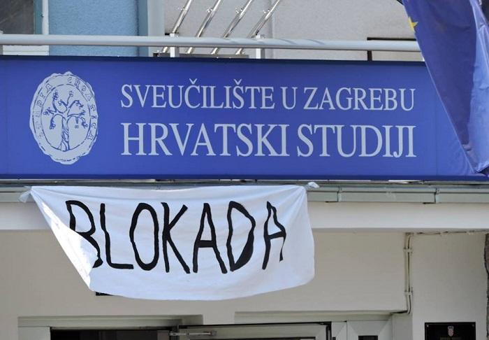 hrvatski studiji, blokada, studentski sabor, studenti