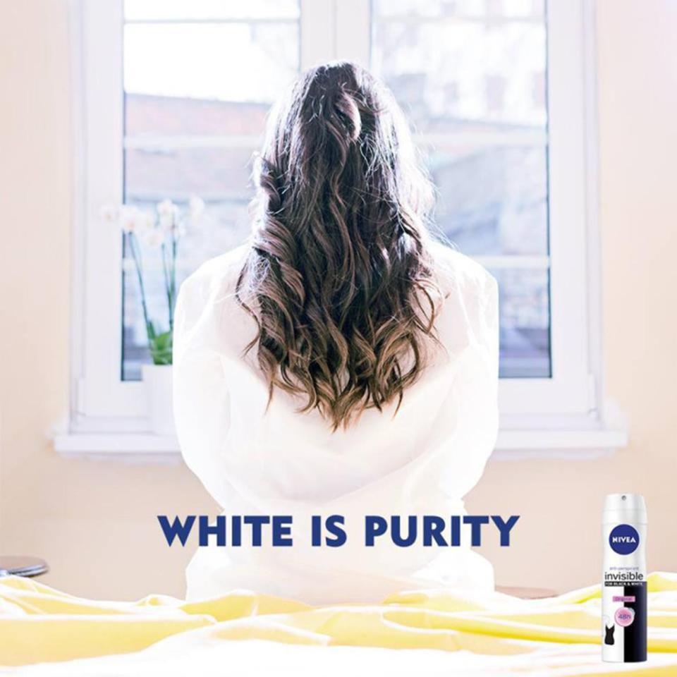 nivea, rasizam, white is purity