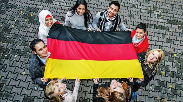 njemačka, frankfurt, imigranti, nijemci