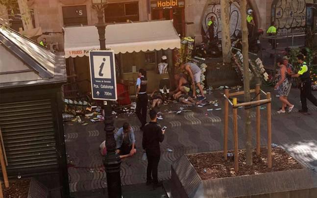 barcelona, teroristički napad, islamska država, video
