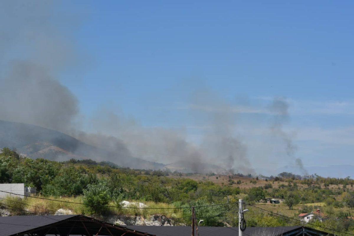Пожар над Пинтија, граѓаните во паника, пожарникарите се борат со огнот