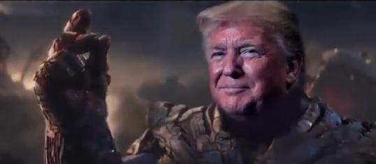 Во кампањата за избори Трамп претставен како Танос од Авенџерс