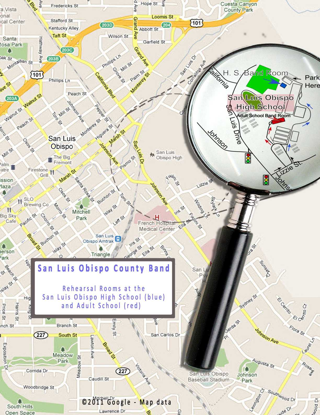 hight resolution of click here to see a detail that shows the location of the rehearsal rooms