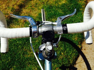 White Handlebar Tape After Cleaning