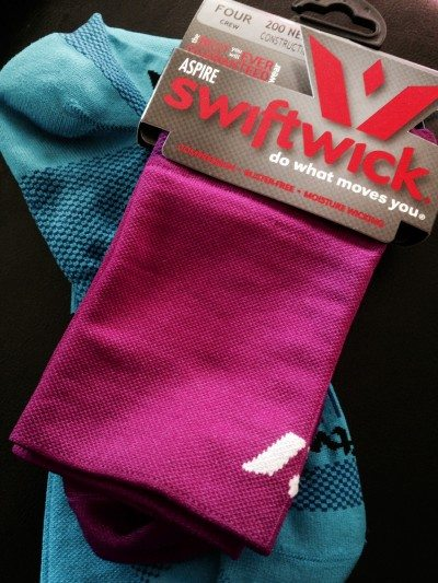 The Swiftwick Four Compression Sock in Purple