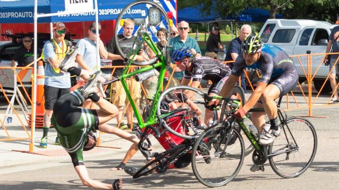 Bike crash by Adam Meek
